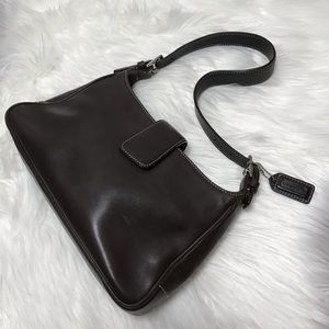 Coach Classic Brown Leather Small Shoulder Bag